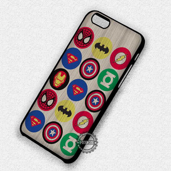 Superhero Symbols - iPhone 7 6 Plus 5c 5s SE Cases & Covers