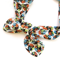 Polka Dot Dolly Bow Hair Accessory Bandana Headband Head Wrap Hairwrap Women Hair Accessory White Orange Blue Teen Gift Ready To Ship