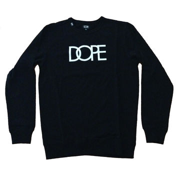 Dope Couture Logo Black Light Crewneck