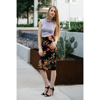 THE FLORA MIDI PENCIL SKIRT