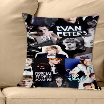 Evan Peters Collage on Decorative Pillow Cover