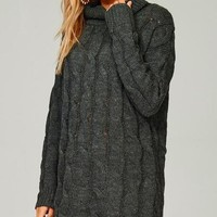 Cedar Rapids Charcoal Sweater Dress