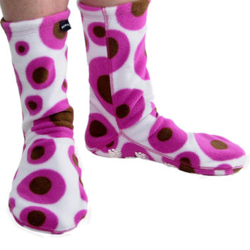 Polar Feet® Fleece Socks Pink Martini