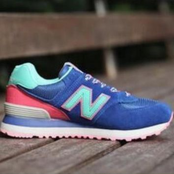 New Balance Couple Fashion Stylish High Quality Sports Shoes Running Shoes Blue