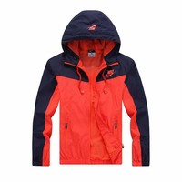 "Fashion ""NIKE"" Hooded Zipper Cardigan Sweatshirt Jacket Coat Windbreaker Sportswear [10753565955]"