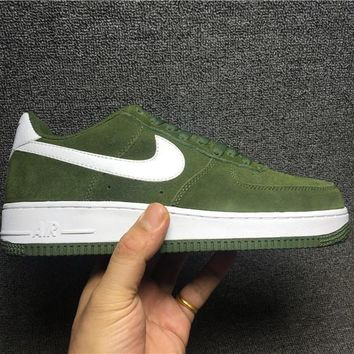 PEAPON Nike Air Force 1 820266-301 Green For Women Men Running Sport Casual Shoes Sneakers