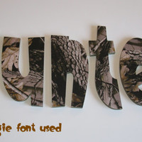 Realtree Hardwoods Camo Wall Letters