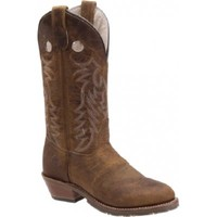 Double H Ladies' Buckaroo Cowgirl Boots In Mid Brown