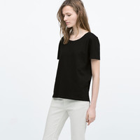 T-SHIRT WITH ASYMMETRIC HEM
