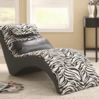 Coaster Accent Seating Modern Zebra Print Furniture Chaise:Amazon:Home & Kitchen