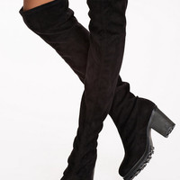 Chunky Knee High Boot - Nly Shoes - Black - Everyday Shoes - Shoes - Women - Nelly.com