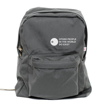 Backpack: Other People Exist Classic School Backpack (Men & Women)