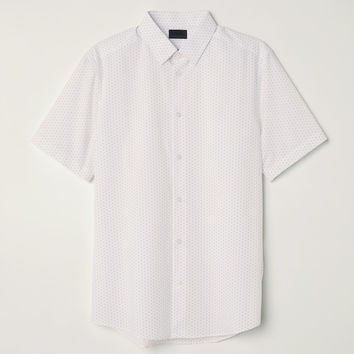 H&M Slim Fit Short-sleeved Shirt $24.99