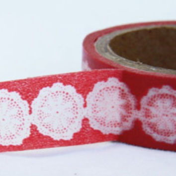 Sale 20% off Lace Doily Washi Tape Adhesive Stickers WT12 (2 rolls)