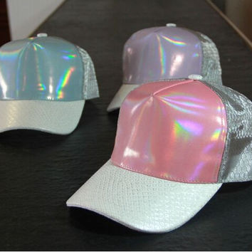 10pcs /-A274 High-end metallic fabrics mesh fashion street Outdoor leisure men women baseball hat