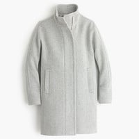 PETITE STADIUM-CLOTH COCOON COAT