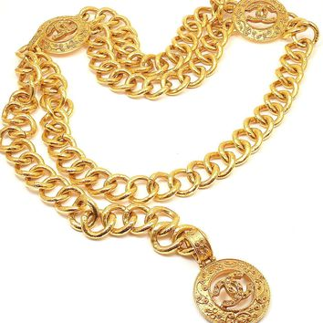 GORGEOUS AUTHENTIC CHANEL EXTRA LARGE CHUNKY GOLD TONE BELT/ NECKLACE, TEXTURED