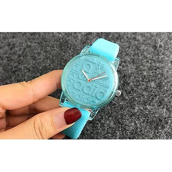 Adidas Silicone Strap Watch - Candy Color Blue I-Fushida-8899