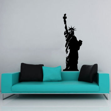 Statue Of Liberty Wall Decal Vinyl Sticker Decals Art Home Decor Mural Statue Of Liberty New York Travel Fashion Bedroom Dorm AN540