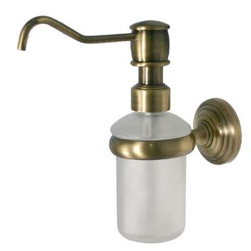 Allied Brass WP-60-ABR Waverly Place Antique Brass Wall-Mounted Soap Dispenser