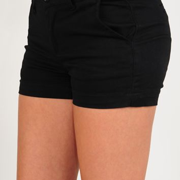 Prepared For Anything Shorts: Black