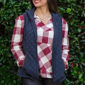 Just The One Vest-Navy