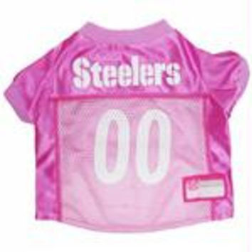 Pittsburgh Steelers Pink Jersey LG