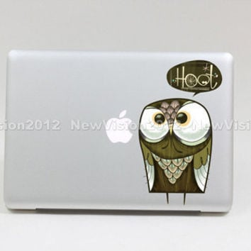Hoot macbook pro decals macbook air macbook pro by Newvision2012