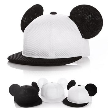 Baby kids boy girl Fashion Mickey hat baseball cap accessoire bonnet bebes chapeau garcon fille touca gorro Two sizes