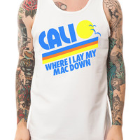 The Cali Mac Down Tank Top in White