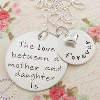 Hand Stamped Mother Daughter Neckla.. on Luulla