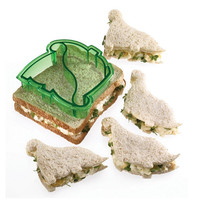 Dino Dinosaur Bread Sandwich Toast Big Cookie Plastic Pink Cutter Mold