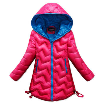 2015 Winter New Girls Down Jacket And Long Sections Thicker Coat Children Worm And Generous Princess Casual Down Outerwear