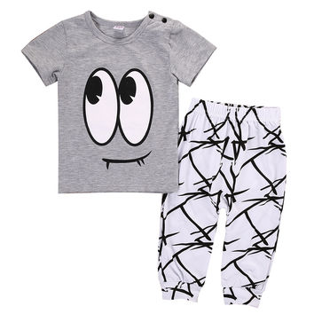 2016 kids boys summer style infant clothes baby clothing sets Baby Boy Girl Clothes T-shirt Tops+Pants Outfits Set
