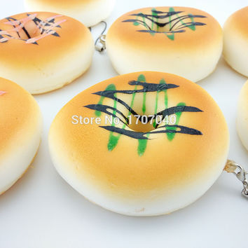 2015 New Squishy Donuts Bread Soft Buns Scented Phone Strap Key Chains
