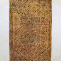 Vintage Golden Patchwork Woven Rug - Urban Outfitters