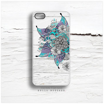 iPhone 6 Case Floral, iPhone 5C Case Floral, iPhone 5s Case Wood Print, iPhone 4s Case, Weathered Wood iPhone Case, Teal iPhone Cover I33