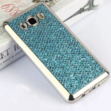 Phone Case For Samsung Galaxy J5 J510 2016 Bling Fish Scales Texture Glitter Cover For Samsung Galaxy J5 J510 2016 Coque Funda