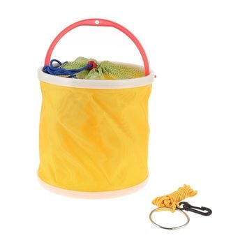 Portable Fishing Canvas Bucket Portable Folding Bag With Storage B Outdoor Car Washing Camping Collapsible Fishing Water Barrel