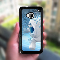 Htc one case,frozen,HTC one M7 case,HTC one X case,HTC one S case,case edge in white or black plastic,the image color never change