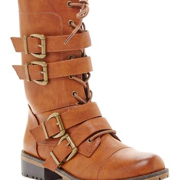 Realplay | Nikita Strappy Lace-Up Combat Boot | Nordstrom Rack