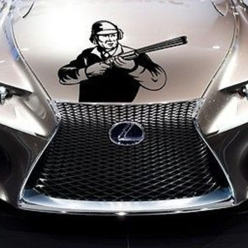 Car Hood Vinyl Decal Graphics Stickers Weapon Gun Rifle AB1469