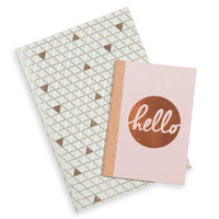 2 pink and green notebooks | Maisons du Monde