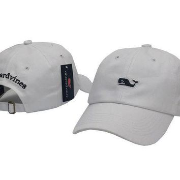 Day-First™ White Vineyard Vines Women Men Embroidery Sports Sun Hat Baseball Cap Hat