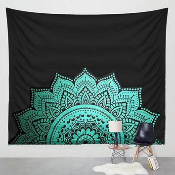 Hippie Tapestry Printed Lotus Tapestry Bohemia Mandala Tapestry Serviette Plage Wall Hanging For Wall Decoration Yoga Mat