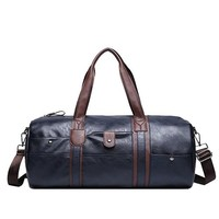 Vintage Retro Leather Men Travel Bags hand luggage Overnight Bag Large