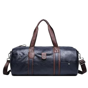Vintage Retro Leather Men Travel Bags hand luggage Overnight Bag Large Duffle Travel Bags Women Weekend bolsa viagem