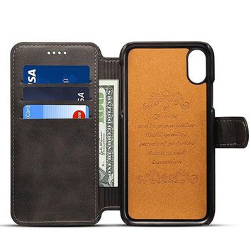 CREYV2S Leather Wallet Phone Case with ID Credit Card Slot Holder Flip Cover Stand for iPhone 6/6S/6 Plus/ 6S Plus/ iPhone7/7 Plus iPhone 8