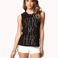 Steal My Heart Muscle Tee