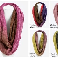 Ombre Infinity Scarves